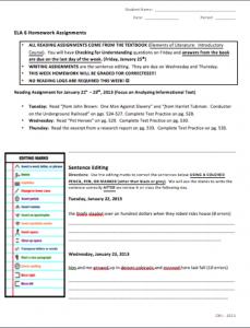 HomeworkSheet