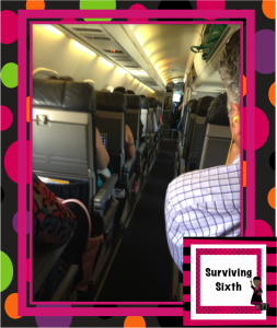 We were on a tiny plane...whew!